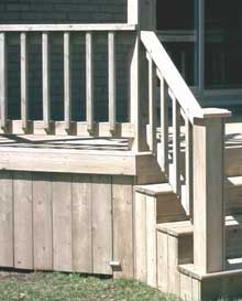 Deck Railings and step
