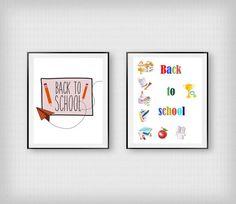 Back to school print School icons by InstantDownloadArt1 on Etsy