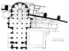 Gótico españo. Planta de la catedral de Ávila, siglo XII. Cisterciense.