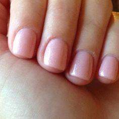 Gel nail color. Neutral with a glittery twist!