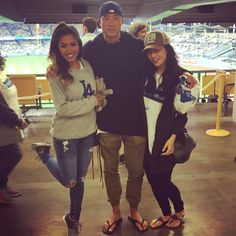 THINK BLUE: Sometimes in life you live a bit better with #realfriends. Running through #Dodgers stadium with my @jocela & @meowitsshar eating cotton candy  hot dogs  garlic fries  nachos and soft serve ice cream. #LA #homeofthedriveby #kneedab #westcoast back at it again. #squadgoals  by khris_stars