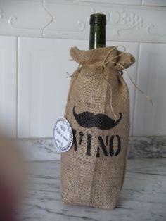 fundas para vino Burlap, Reusable Tote Bags, Single Men, Going Away, Slipcovers, Hessian Fabric, Jute, Canvas