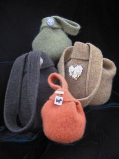 Cute felted sweater purses