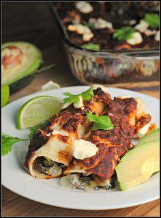 Black Bean-Roasted Zucchini-Goat Cheese Enchiladas