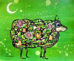 Pop Art Sheep - orig. Illustration by Sara Rodighiero, Punktewahnsinn