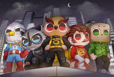 sudaesaeng: [ Banana Bus Squad ] heroes
