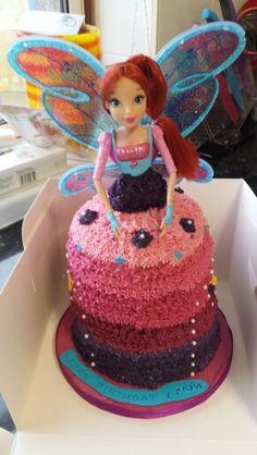 Winx club bloom doll cake