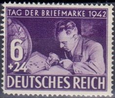 Germany - Stamp collecting theme 1942.