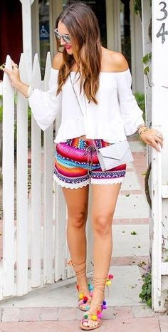 #summer #lovely #outfits |  White + Multi