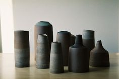 Moody landscape vessels by Melbourne ceramicist Tara Shackell. Please email us for purchase, will be on web shop soon as well. Ceramic Tableware, Ceramic Clay, Ceramic Pottery, Ceramic Studio, Contemporary Ceramics, Modern Ceramics, Modern Industrial Furniture, Creations, Sculpture