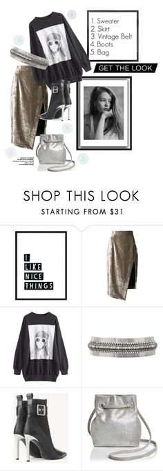 """""""Get the Look: Vintage Style"""" by stylemaven2 ❤ liked on Polyvore featuring Off-White, Versace, rag & bone, Halston Heritage, vintage, GetTheLook, Inspired, Sweater and velvet"""