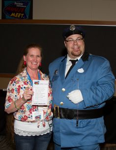 """PNW Mouse Meet's own Officer Jonathan Blue directing traffic, keeping the peace and writing """"fun"""" citations all day long..."""