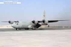 Arriving to drop off some cargo at Sakhir Air Base ahead of the 2014 Bahrain International Airshow. Squadron is based at Bateen Air Base, Abu Dhabi. C 130, Air Show, Hercules, Fighter Jets, Aircraft, Shots, Christian, World, Awesome
