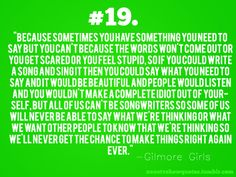 And this is why I love Taylor Swift. And the fact that this is from gilmore girls makes it so much better.