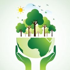 Hands Holding The Green Earth Globe with tree ,Vector Illustration – Gardening for beginners and gardening ideas tips kids Save Earth Drawing, Belle Image Nature, Nature Verte, Earth Logo, Earth Drawings, Earth Poster, Save Environment, Save Our Earth, Plakat Design