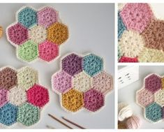 Crochet Archives - Page 32 of 166 - DIY Magazine Modern Crochet Patterns, Crochet Blanket Patterns, Free Sewing, Knitting Patterns Free, Crochet Squares, Crochet Doilies, Crochet Flowers, Crochet Home, Free Crochet