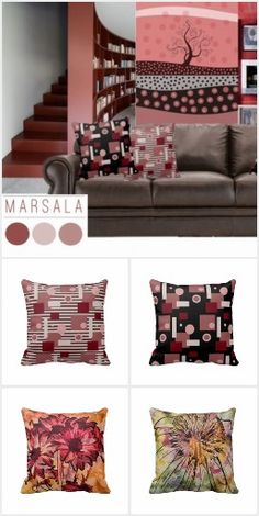 #Marsala Home Decor #Zazzle