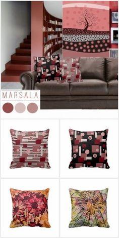 #Marsala Home Decor #Zazzle