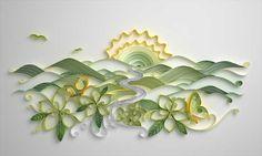 Jitesh Patel 2&3 Quilling Illustration advertising campaign for Alpina yogurt