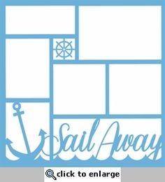 Sail Away 12 x 12 Overlay Laser Die Cut