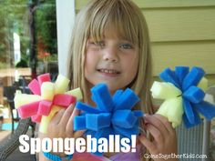 Come Together Kids: SpongeBall Splashpants! alternative to water balloons they can make out of dollar store sponges and zip ties
