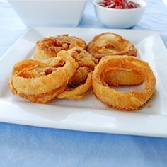Baked Onion Rings by Healthiersteps