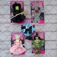 OZ Ribbon Sculpture {Your Choice}-wicked witch, tinman, toto, glinda, good witch, scarecrow, wizard of oz, dorothy, hair clip, hair bow, hairbow, clippie, ribbon art