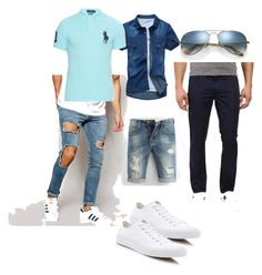 качок лето by zinchenko-sasha on Polyvore featuring polyvore Polo Ralph Lauren ASOS Converse Ray-Ban men's fashion menswear clothing