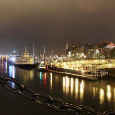 #Boston #bostonharbor #usa #seaside #harbour #nightphotography