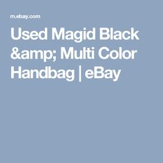 Used Magid Black & Multi Color Handbag   | eBay