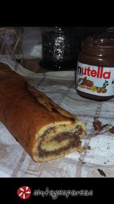 Ρολό κέικ με nutella #sintagespareas Nutella, Greek Recipes, French Toast, Recipies, Sweets, Snacks, Cookies, Breakfast, Desserts