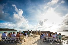 Ceremony Created by Boy Meets Girl Weddings (set on a sandbar at low tide on a full moon)