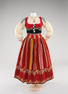 Ensemble (image 1 - Front) | Portuguese | fourth quarter 19th century |  wool, silk, cotton, metal, glass |  Brooklyn Museum Costume Collection at The Metropolitan Museum of Art | Accession Number: 2009.300.2a–c