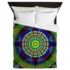 Mandala for empathy Queen Duvet