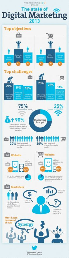 The state of Digital Marketing 2013 - visual from reclamepraat.nl / @Webmarketing123