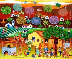 """""""Mulheres Rendeiras"""" - Antonio Militão dos Santos, ou Militão dos Santos (Caruaru, Pernambuco, Brasil, 15 de junho de 1956) é um artista plástico, artesão e poeta brasileiro."""