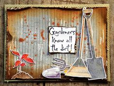 Card by Belinda Spencer using Darkroom Door Gardening Vol 1 Rubber Stamp Set. http://www.darkroomdoor.com/rubber-stamp-sets/rubber-stamp-set-gardening-vol-1