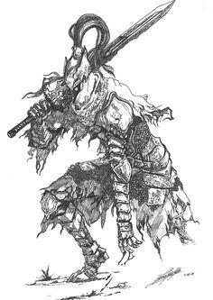 Soul Tattoo, Dark Tattoo, Ornstein Dark Souls, Bloodborne Art, Bloodborne Concept Art, Dark Fantasy, Fantasy Art, Dark Souls Artorias, Dibujos Dark