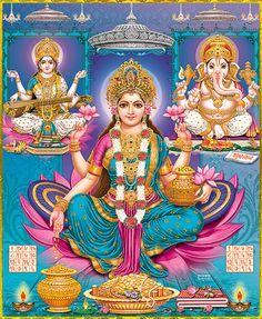 Akshaya Tritiya is a day blessed with kubera and goddess lakshmi. Saraswati Goddess, Mother Goddess, Goddess Lakshmi, Shiva Art, Shiva Shakti, Hindu Art, Lakshmi Statue, Diwali Pooja, Lakshmi Images