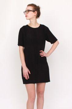 black frantic dress