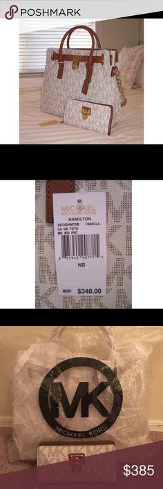 Hamilton Michael Kors Set Brand new Hamilton purse and a wallet set MICHAEL Michael Kors Bags Totes