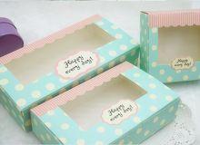 Tamaño 21.5 * 13.5 * 5 cm de la torta de regalo caja de cartón, caja de embalaje de papel con la ventana(China (Mainland))