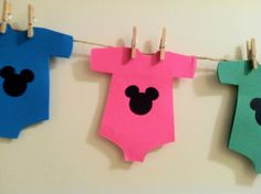 Disney Mickey Mouse Baby Shower Message Banner by sweetclicks, $12.00