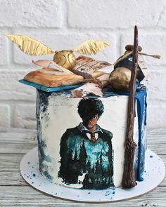Garri Potter, Aries Art, Harry Potter Theme, Specialty Cakes, Mischief Managed, Birthday Cake, Fan Art, Painting, Cake Ideas