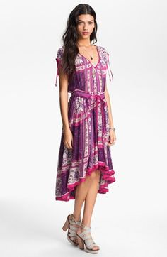 Free People 'Rose Garden' Print Peasant Dress available at #Nordstrom