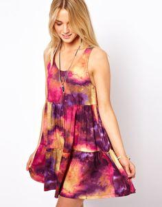 Watercolor smock dress