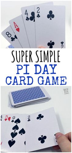 Want a super easy way to have fun with your kids on Pi Day? This Pi Day card game is great because kids of all ages can play together. Plus, there are variations to make it more challenging for older kids. Get excited about the number pi with this easy Pi Day game! http://mathgeekmama.com/pi-day-card-game/?utm_campaign=coschedule&utm_source=pinterest&utm_medium=Bethany%20%7C%20Math%20Geek%20Mama&utm_content=Race%20to%20Pi%3A%20Simple%20and%20Fun%20Pi%20Day%20Card%20Game