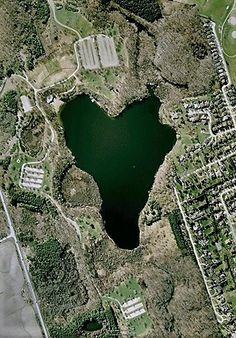 Aerial photo of Heart Lake
