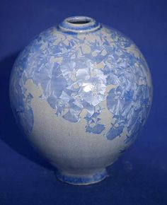 Ceramics by Peter Cosentino at Studiopottery.co.uk - 2013. Pale Blue Crystalline