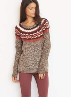 Jacquard Crewneck Sweater. #BlackFriday